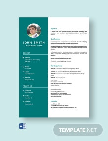 Free Accountant Clerk Resume Template