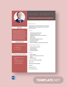 Free Junior Doctor Resume Template
