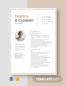 Civil Designer Resume Template