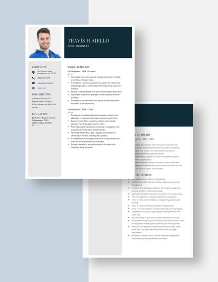 Civil Engineer Resume Download