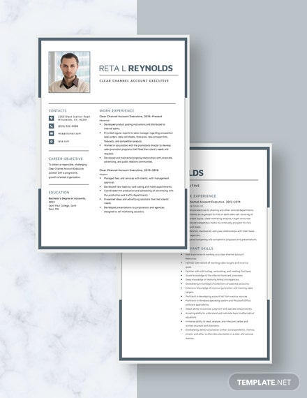 Clear Channel Account Executive Resume Download