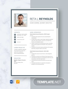 Clear Channel Account Executive Resume Template