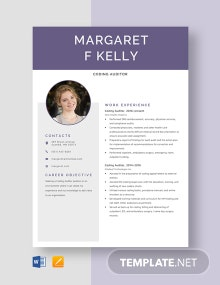 Coding Auditor Resume Template