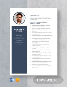 Coding Educator Resume Template