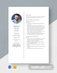 Computer Assistant Resume Template