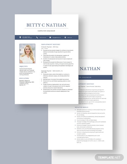 Computer Engineer Resume Download