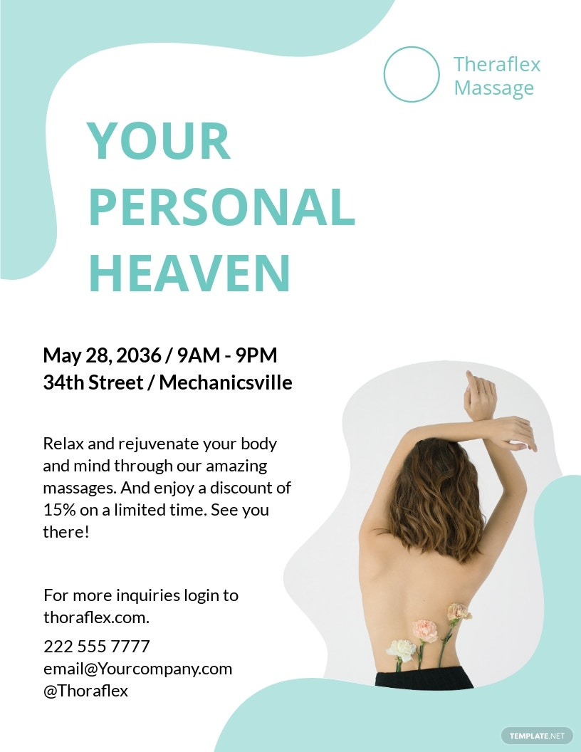 Massage Therapy Flyer Template