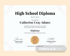 Free civil diploma certificate template in psd ms word publisher free high school diploma certificate template yadclub Images
