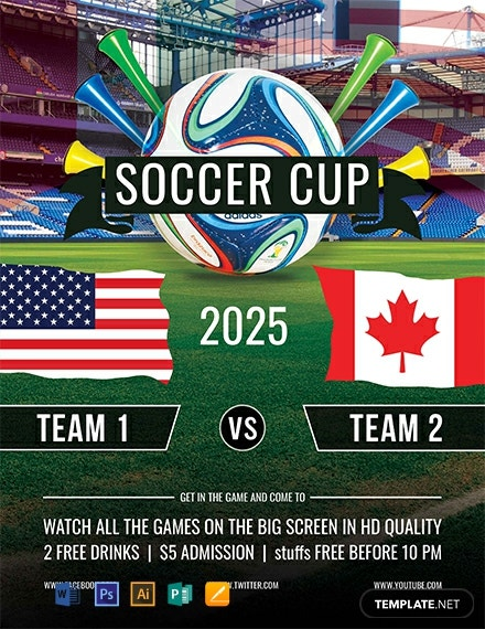 Best Soccer Cup Flyer Template