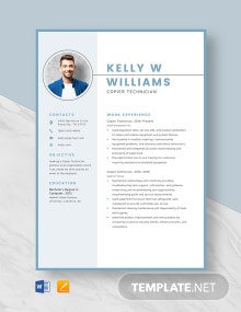 Copier Technician Resume Template