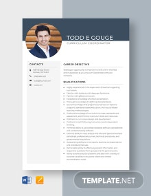 Curriculum Coordinator Resume Template