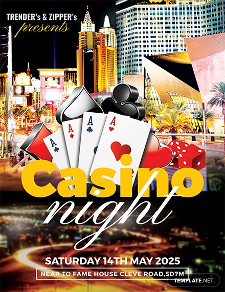 Free Casino Night Flyer Template
