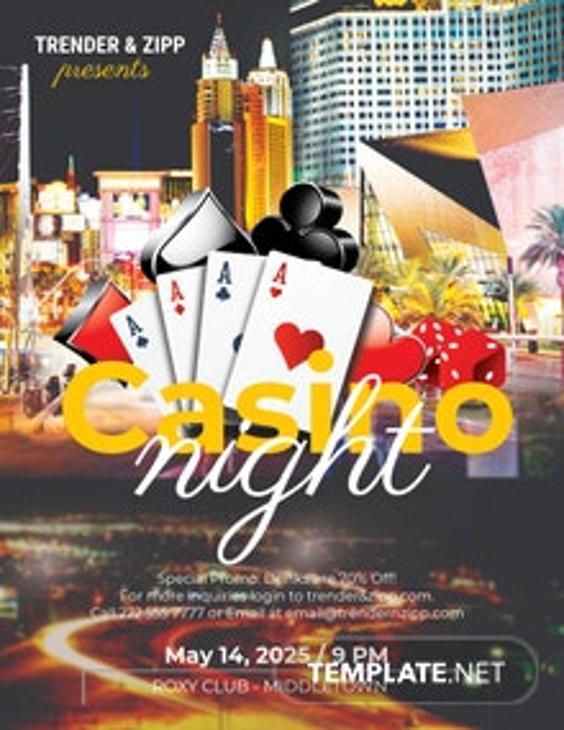 Free Casino Night Flyer Template