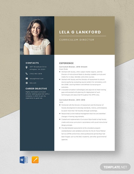 Curriculum Director Resume Template