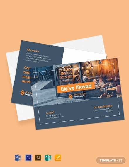 Free Business Moving Postcard Template