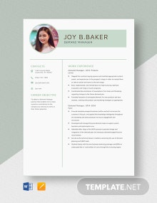 Demand Manager Resume Template