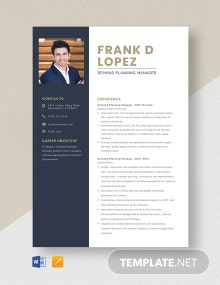 Demand Planning Manager Resume Template