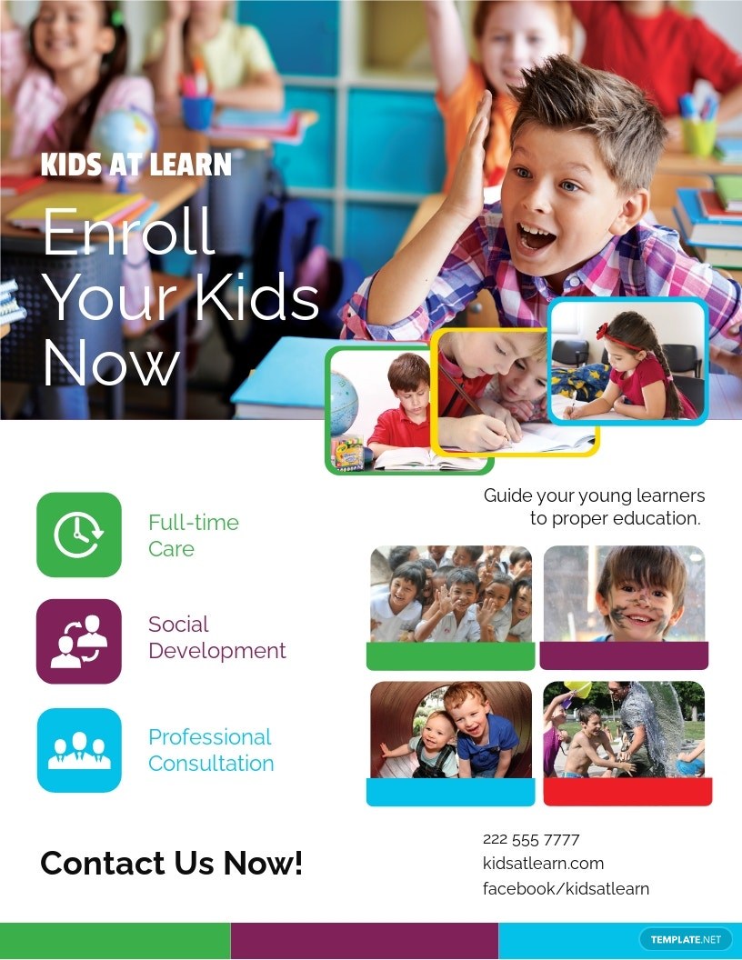 Child Care Flyer Template