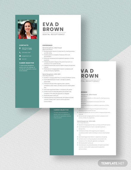 Dental Receptionist Resume Download