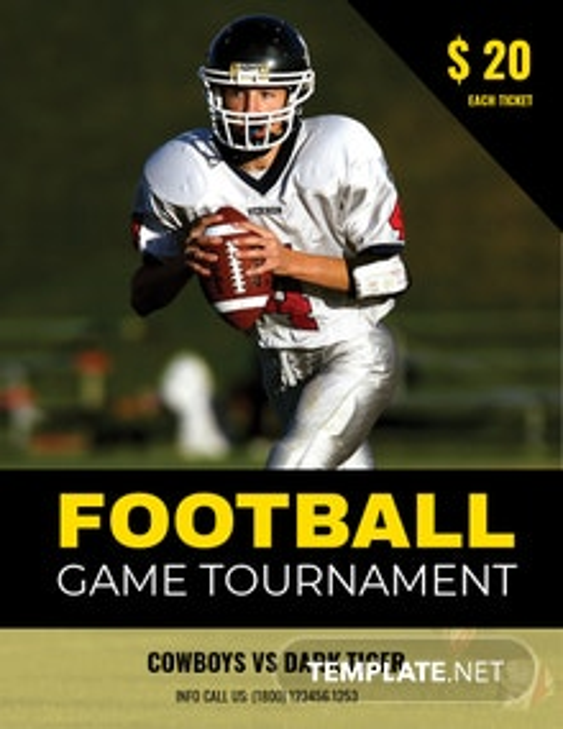 FREE Football Tournament Creative Flyer Template