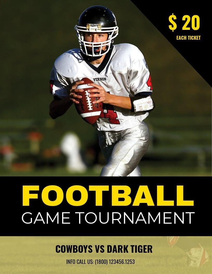 Football Tournament Creative Flyer Template