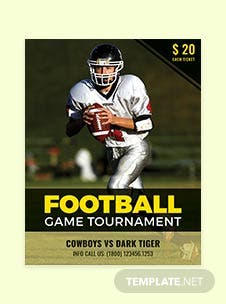 Free Football Tournament Flyer Template