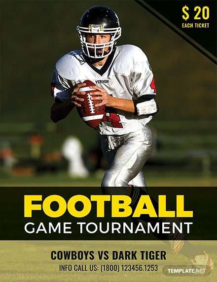 Free Football Tournament Creative Flyer Template