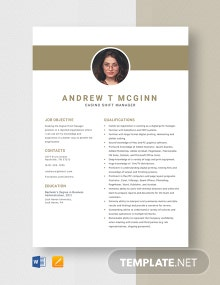 Digital Print Manager Resume Template