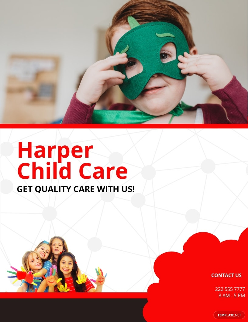 Kid's Care Flyer Template