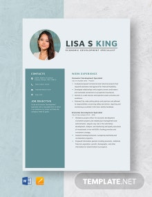 Economic Development Specialist Resume Template