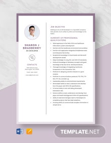 EDI Developer Resume Template