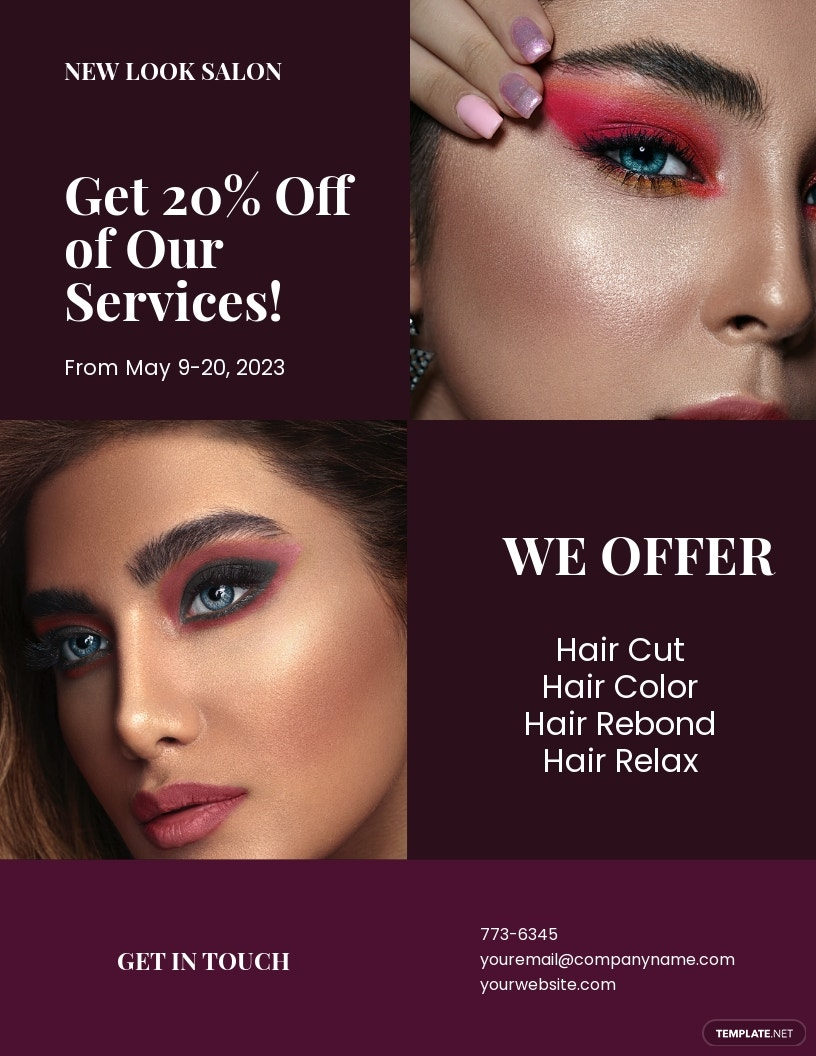 Modern Salon Flyer Template