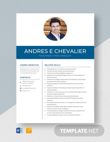 Hardware Store Manager Resume Template