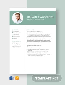 Hardware Test Engineer Resume Template