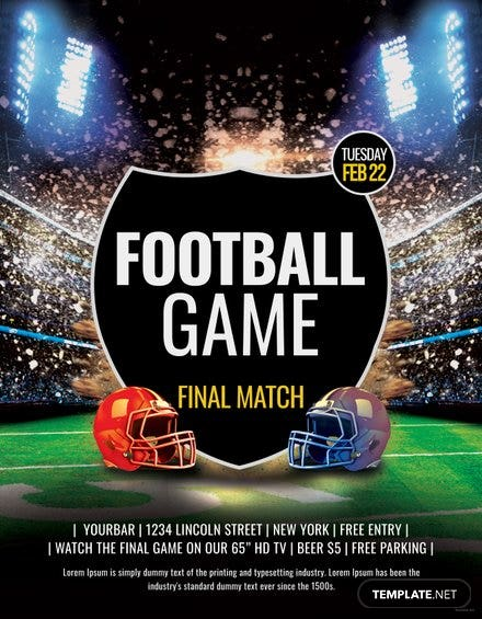 Football Flyer Template | Free Templates