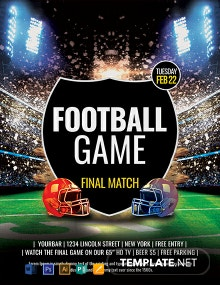 Free Football Game Flyer Template