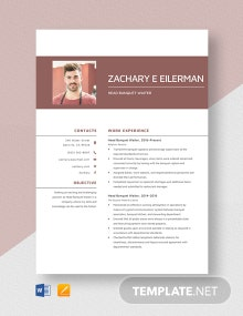 Head Banquet Waiter Resume Template