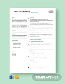 Free Senior Golf Caddy Resume Template
