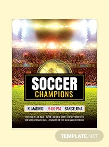Free Soccer Game Flyer Template