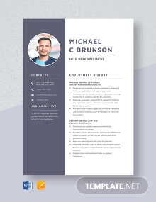 Help Desk Specialist Resume Template