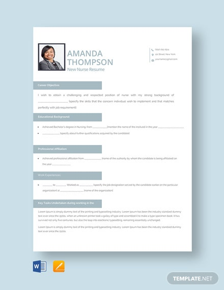 Free Registered Nurse Resume Template