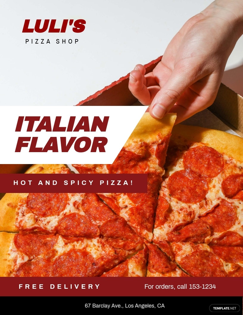 Pizza Shop Flyer Template