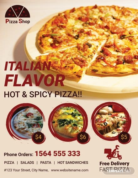 pizza sale flyer template adobe illustrator photoshop template net