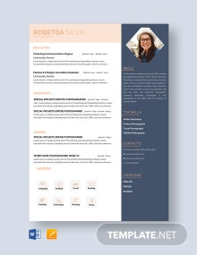 Free Freelance Photographer Resume Template