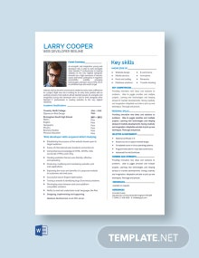 Free HTML Developer Resume Template