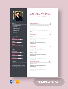 Free Technical Fresher Resume Template