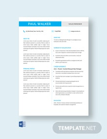 Free Retail Sales Resume Template