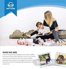 Free Day Care Flyer Template
