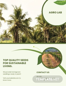 Free Agriculture Flyer Template