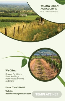 Free Agriculture Poster Template